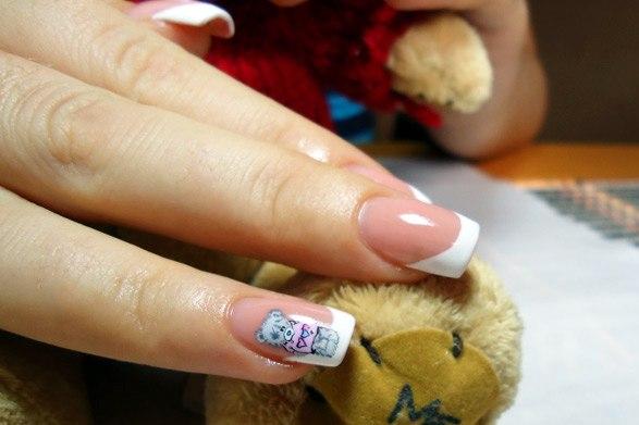 Нарощенные ногти фотографии с мишками